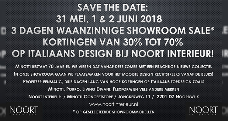 Showroom Sale NOORT Interieur